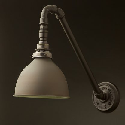 Angled Plumbing Pipe Wall Shade Lamp