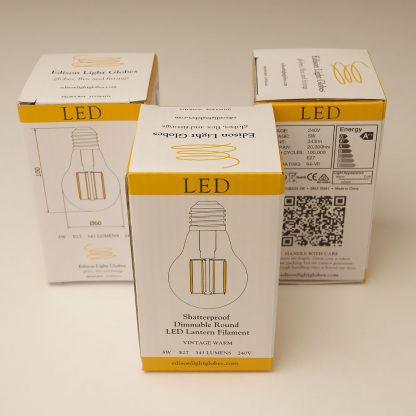 5 Watt Dimmable Filament LED E27 Shatterproof GLS