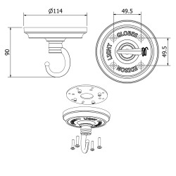 Wiring A Ceiling Rose on wiring diagram of ceiling rose