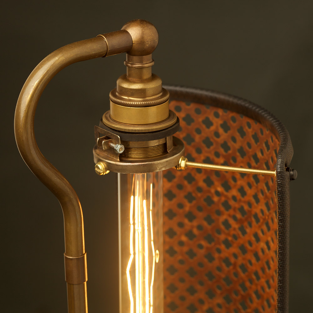 Guard Shield Steampunk Desk Lamp