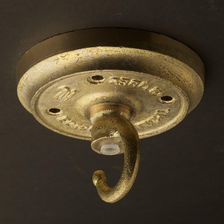Cast brass chain hook ceiling plate