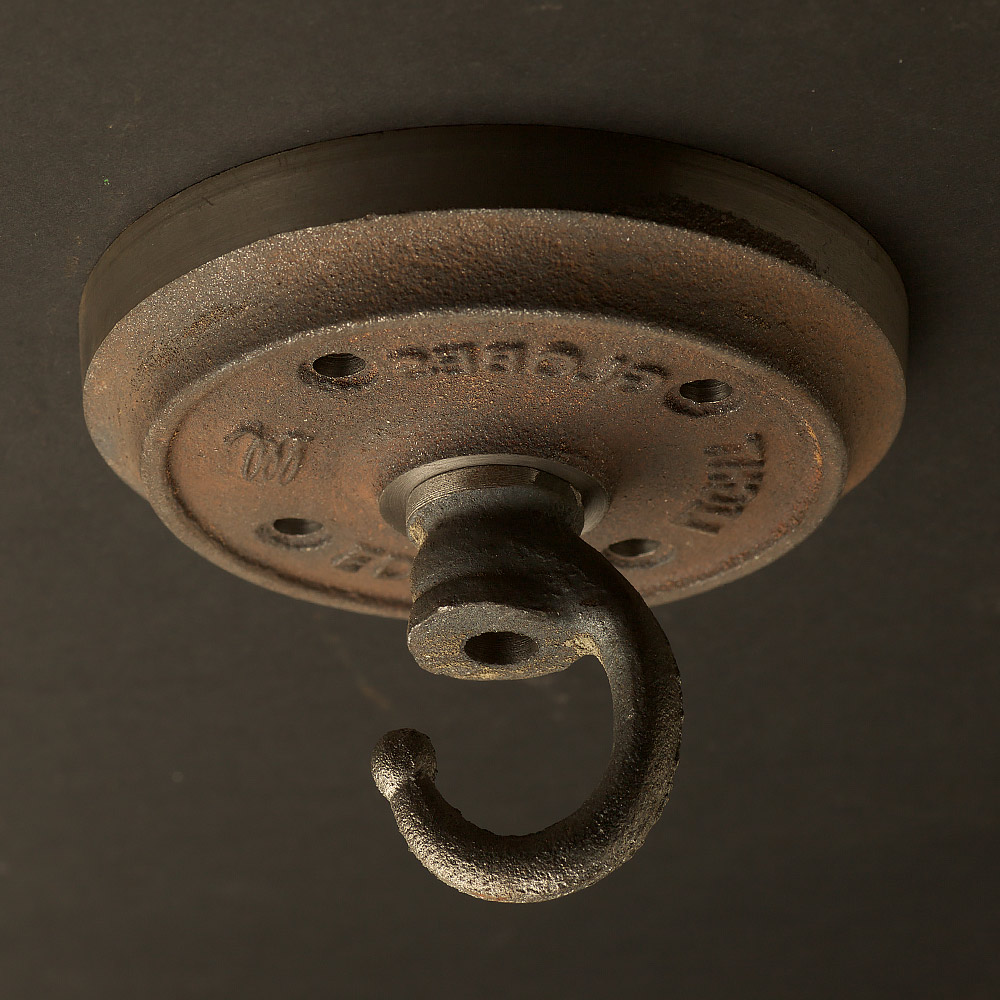 Cast iron chain hook ceiling plate