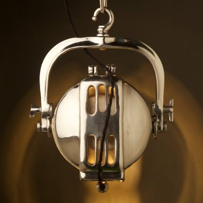 Reproduction Polished Aluminum Theater Spotlight