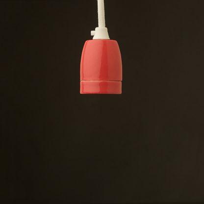 E27 red porcelain pendant
