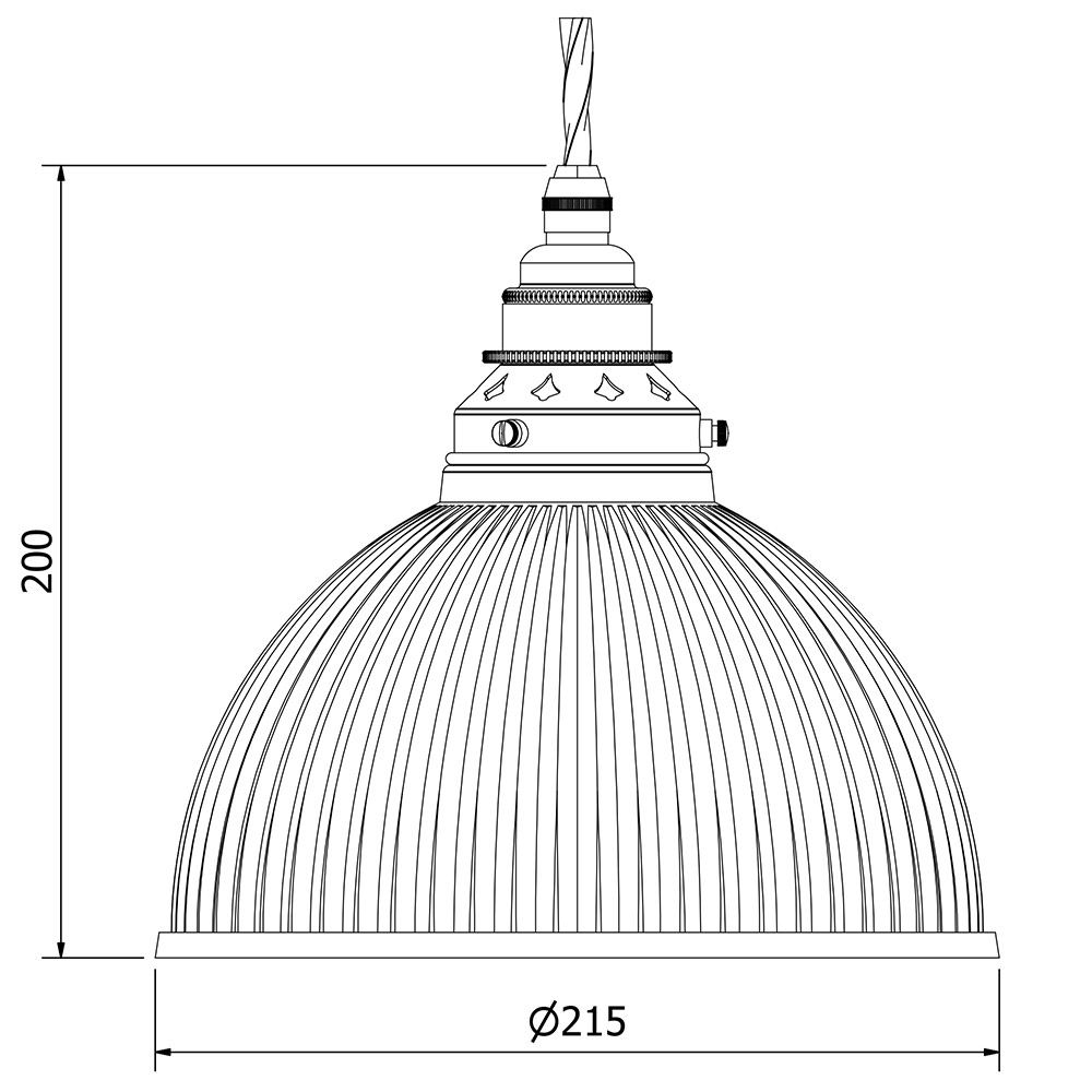 ribbed glass dome pendant