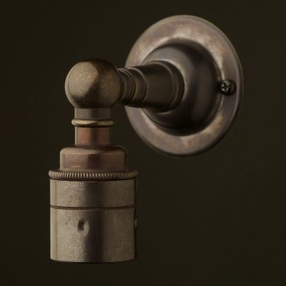 Smooth Bronze Wall mount E27 Lampholder