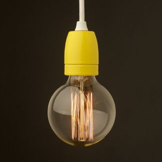 E27 yellow porcelain pendant