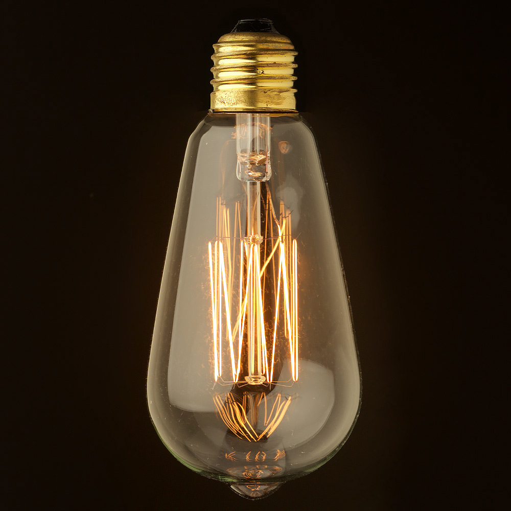 Vintage edison squirrel cage teardrop filament bulb 140mm e27 Light bulb lamps