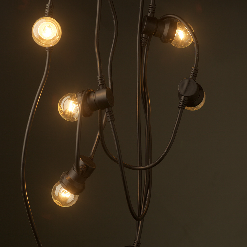 String Lights Edison Bulbs : Vintage Edison 20 Bulb Party Lighting 240V
