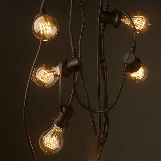 20 bulb E27 240V String light 25W Edison GLS