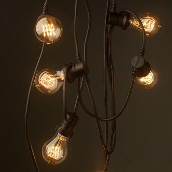 Vintage white edison 20 bulb party lighting 240v