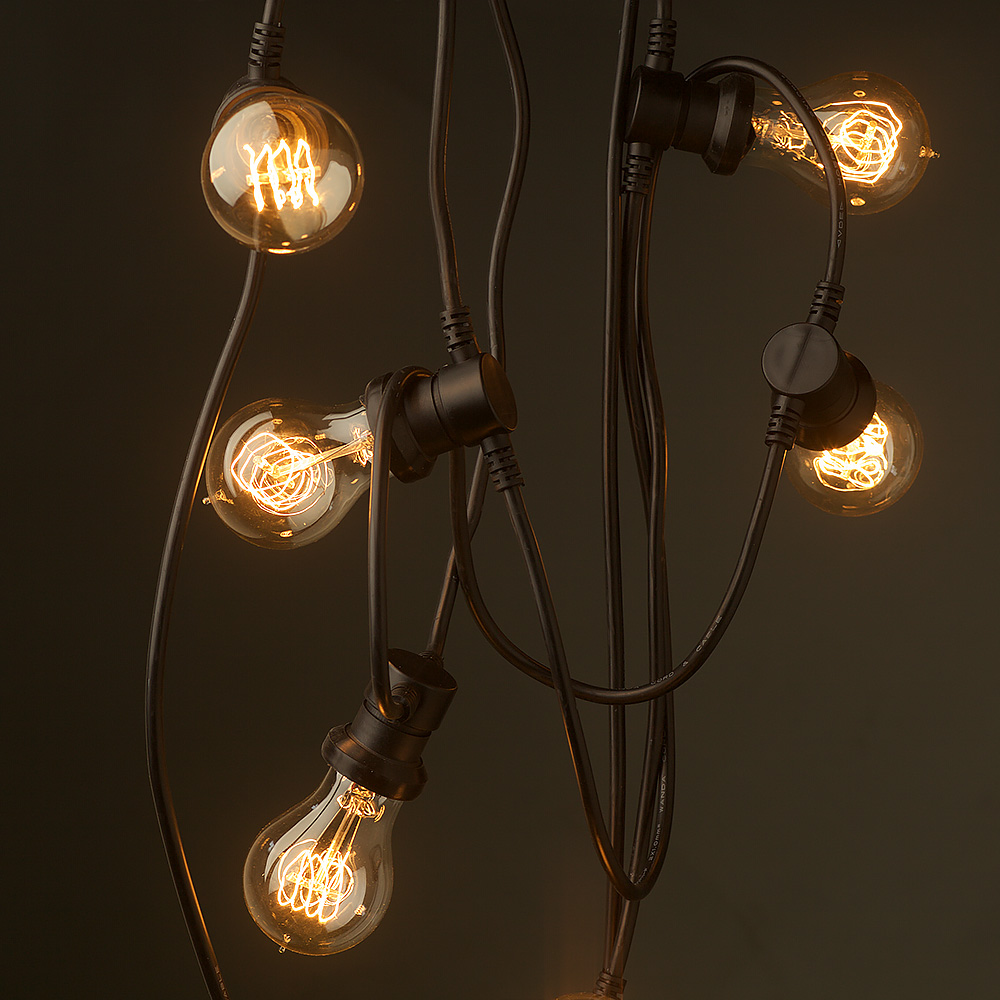 Edison Globe String Lights : Vintage Edison 20 Bulb Party Lighting 240V