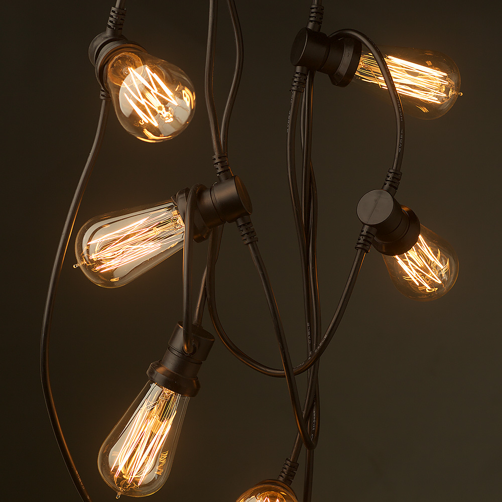 Custom Party String Lights : Vintage Edison 10 Bulb Party Lighting 240V