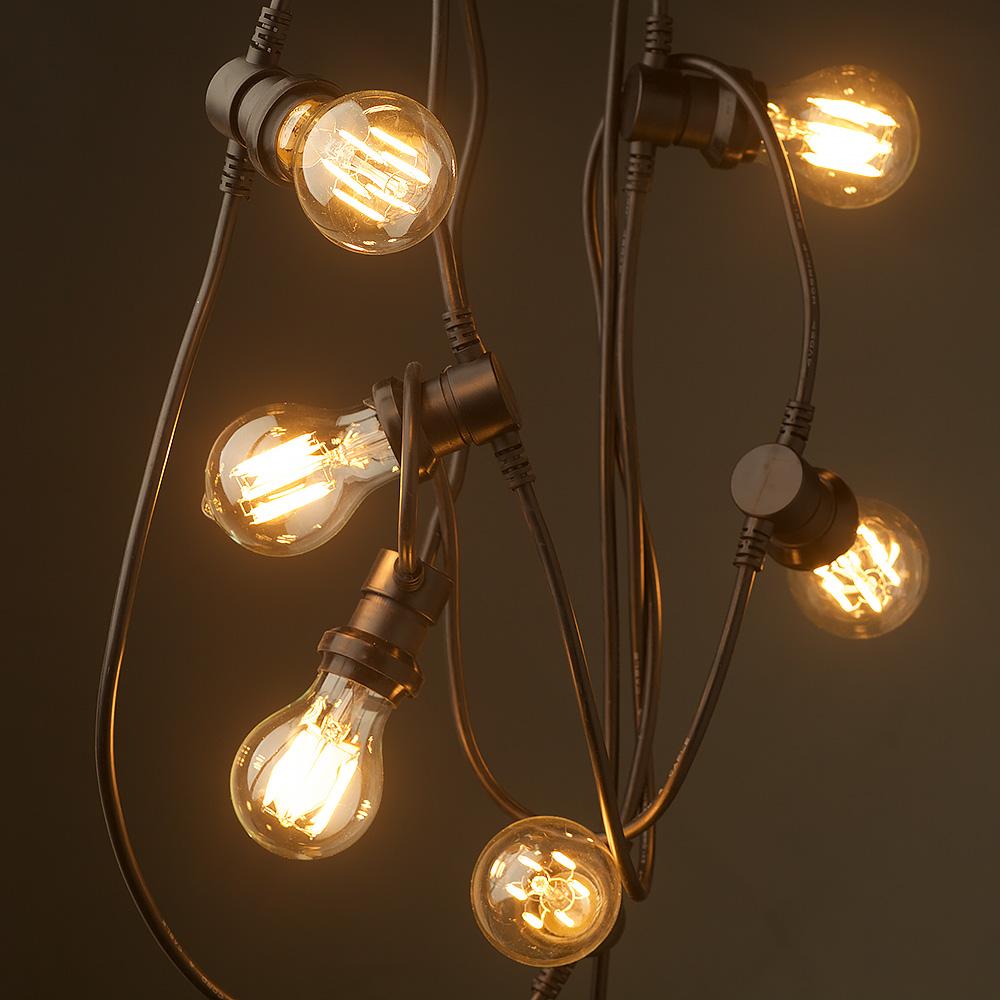 Edison Light Bulb String Lights : Vintage Edison 20 Bulb Party Lighting 240V