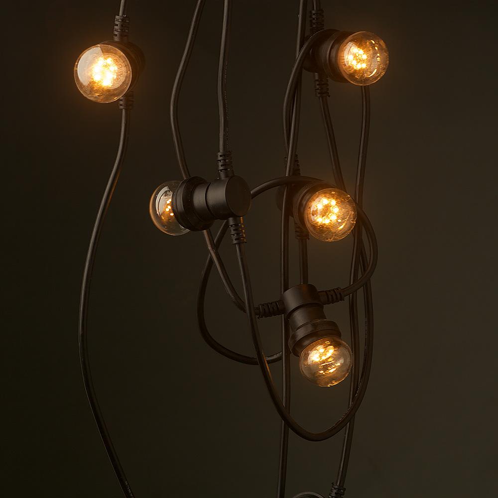 E27 Base String Lights : Vintage Edison 10 Bulb Party Lighting 240V