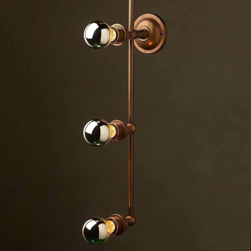 Brass Light Over Mirror