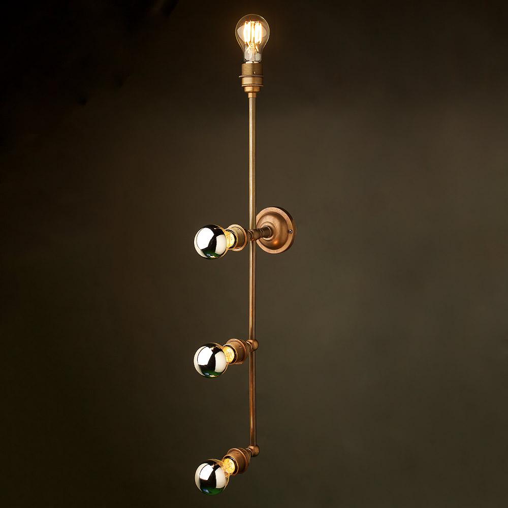 Brass 4 bulb mirror light wall mount for Mirror lights