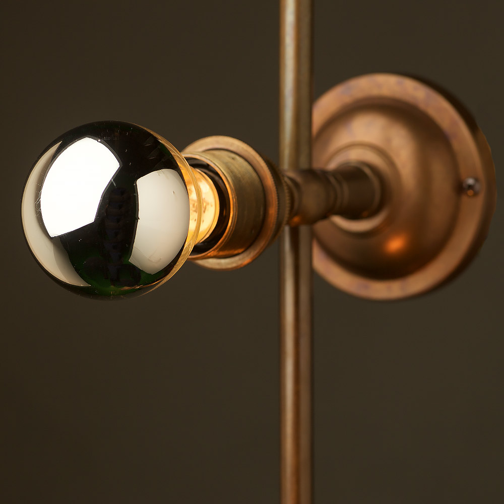 Wall Mounted Disco Lights : Brass 4 Bulb Mirror Light Wall Mount