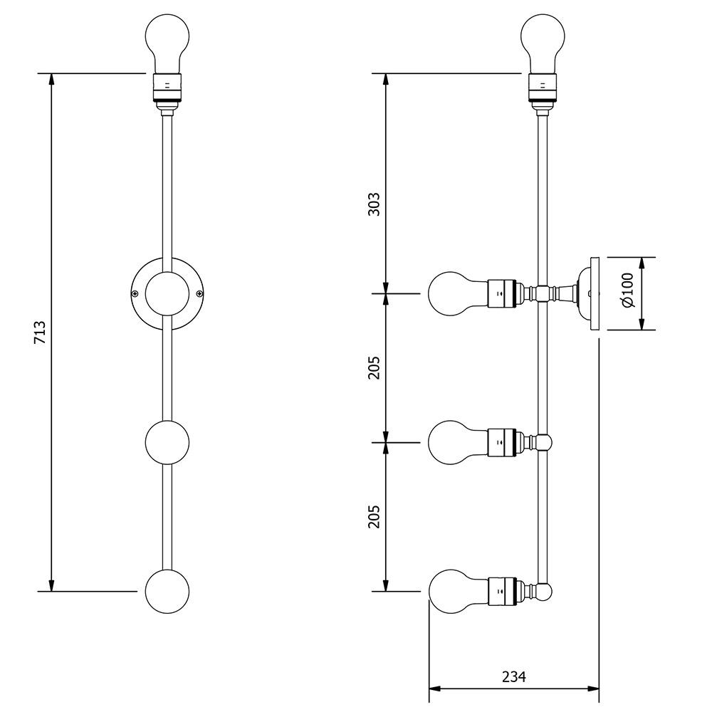 Brass 4 Bulb Mirror Light Wall Mount Sconce Lamp Wiring Diagram