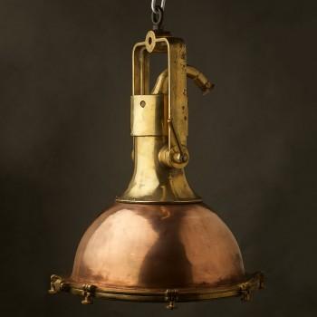 Large Vintage Smooth Brass ships deck light