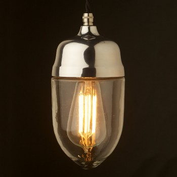 Polished-cast-aluminium-glass-pendant-LED