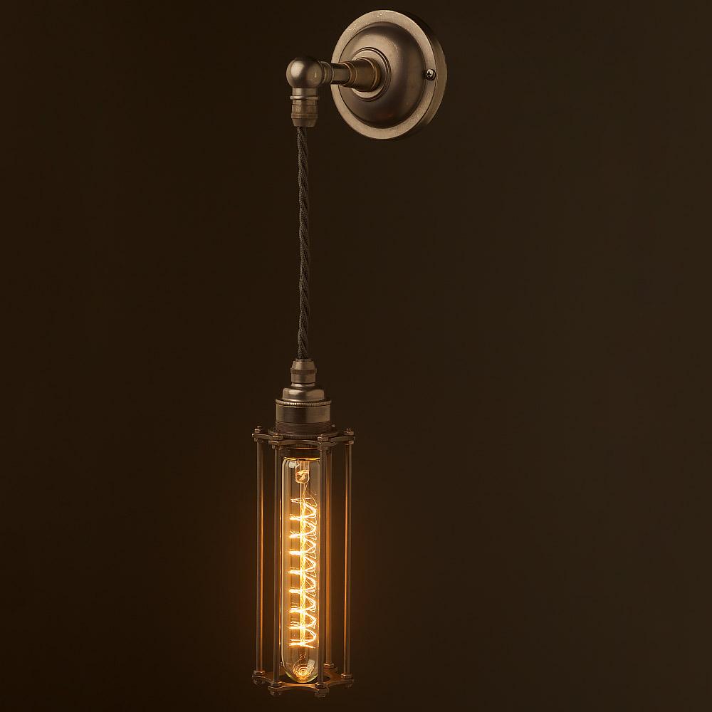 Medium Bulb Cage Wall Pendant Lamp