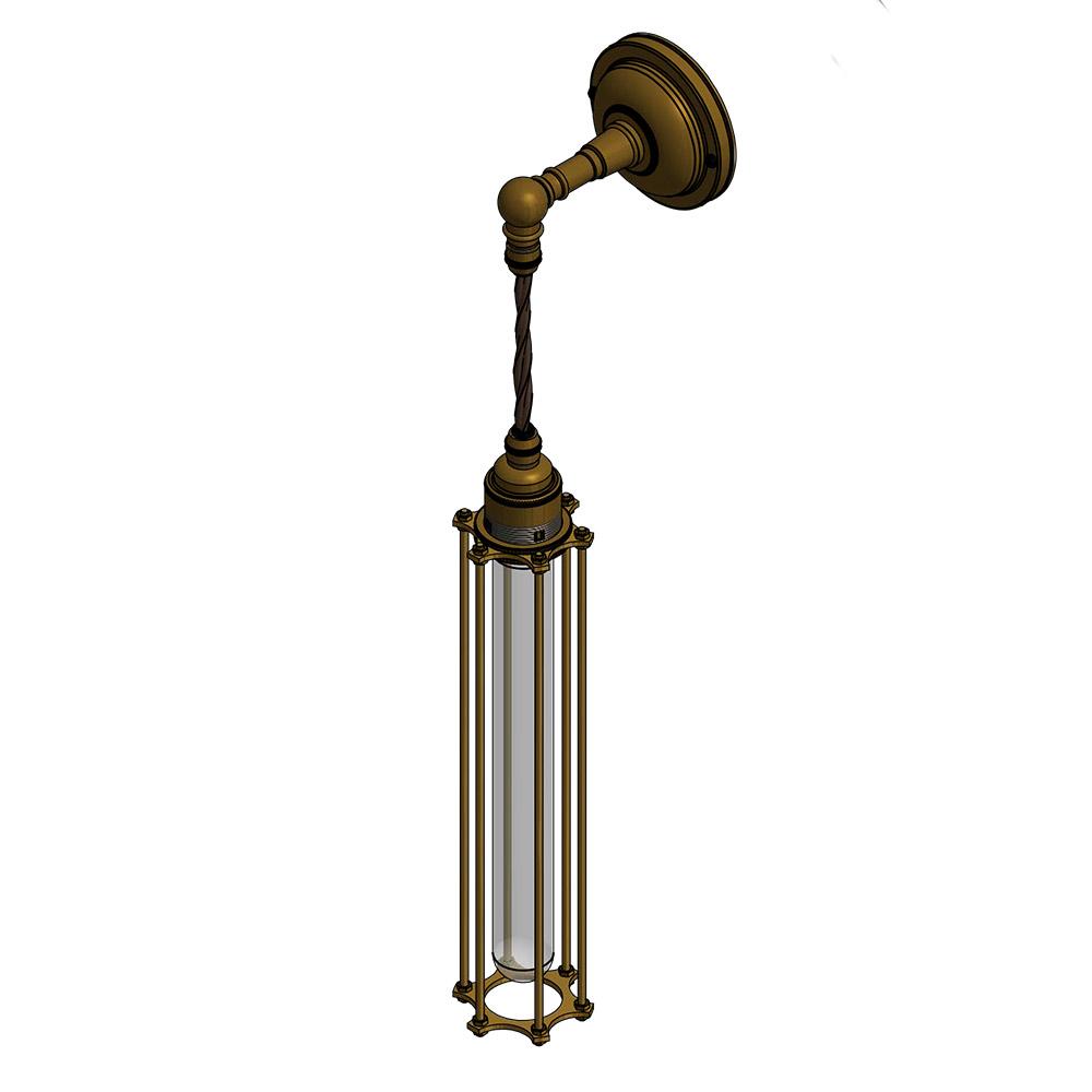 Long Bulb Cage Wall Pendant Lamp