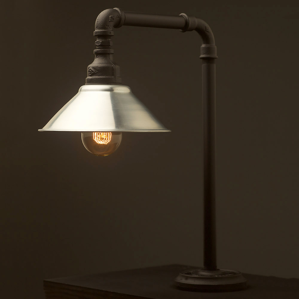 Plumbing Pipe Fixed Table Shade Lamp