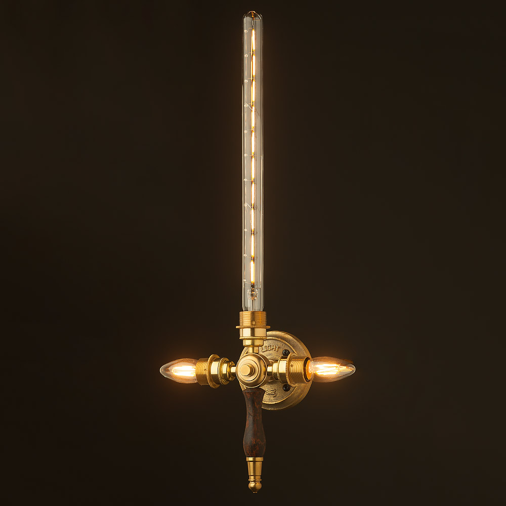 New Brass Sword Wall Light