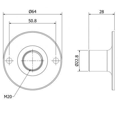 Conduit Junction box Inspection Plate With Conduit Coupler dimensions
