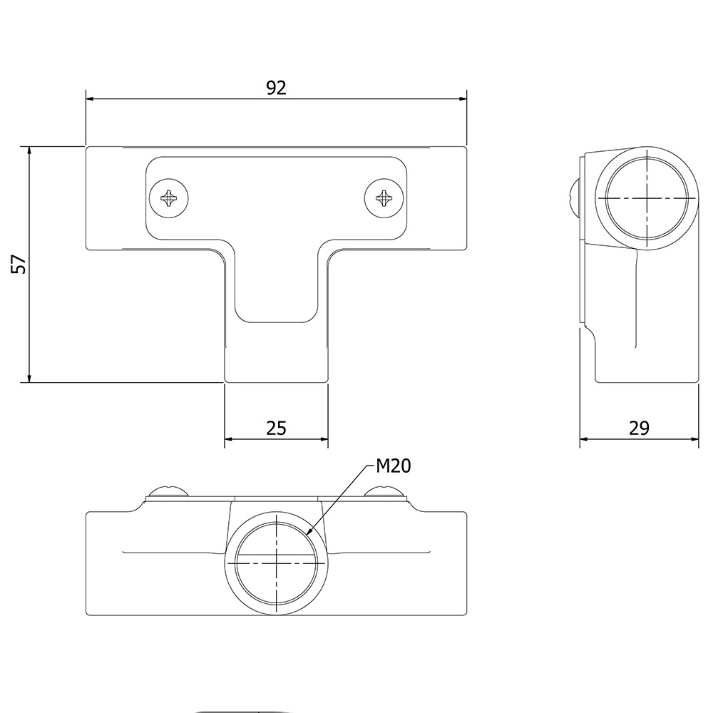 20mm Conduit Inspection Tee