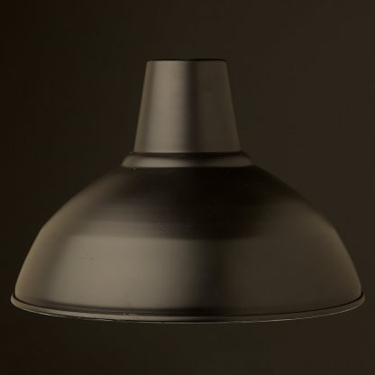360mm Matt Black Factory Shade