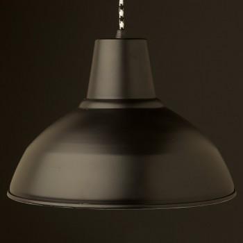 Matt-Black-factory-shade-pendant