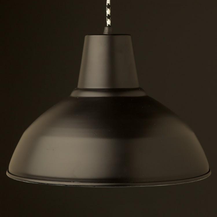 Flat Black Factory Shade Bakelite Pendant Lampholder
