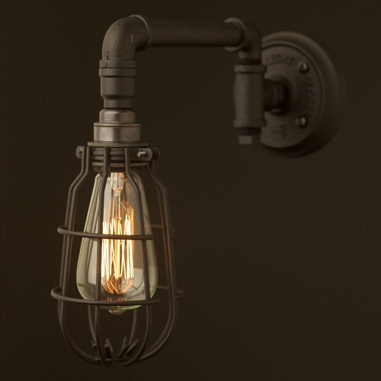 Vintage Black Wall Bracket Light