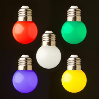 24V Fancy round .5W LED colored Festoon bulb