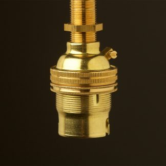 New Brass Threaded Entry Lampholder Bayonet B22