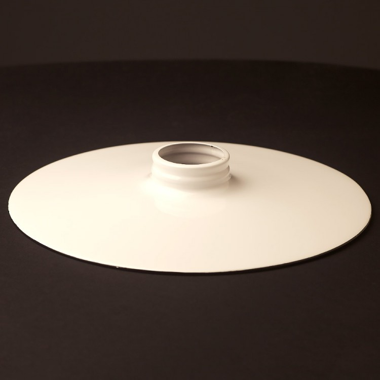 White 10 inch Flat Light Shade