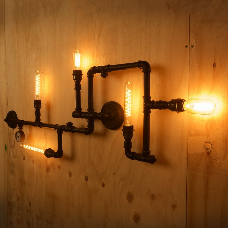 Plumbing Pipe 5 Bulb Wall Feature