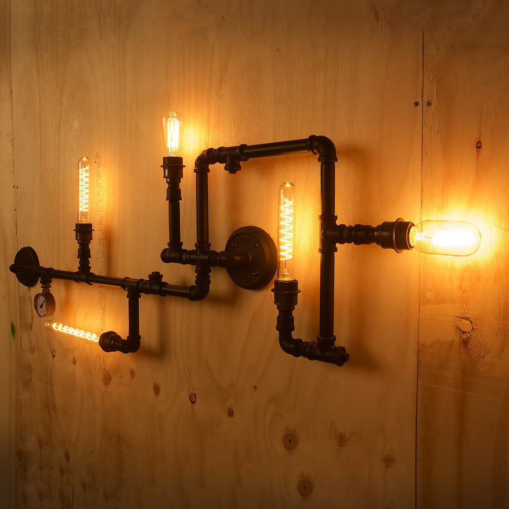 Plumbing pipe 5 bulb wall feature aloadofball Image collections