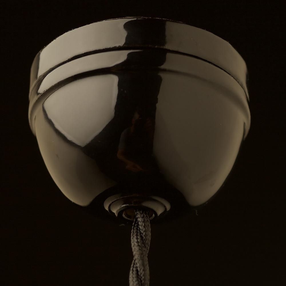 E27 light blue porcelain pendant black porcelain dome ceiling rose aloadofball Gallery