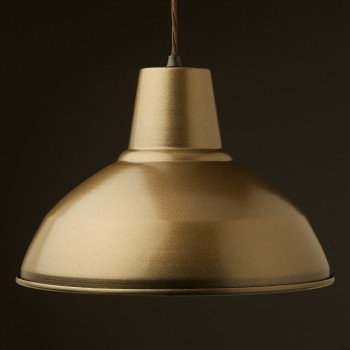 Brass-painted-Factory-Shade-Pendant-with-Bakelite-E27-Lampholder