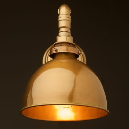 Brass Shade Wall Bracket Light