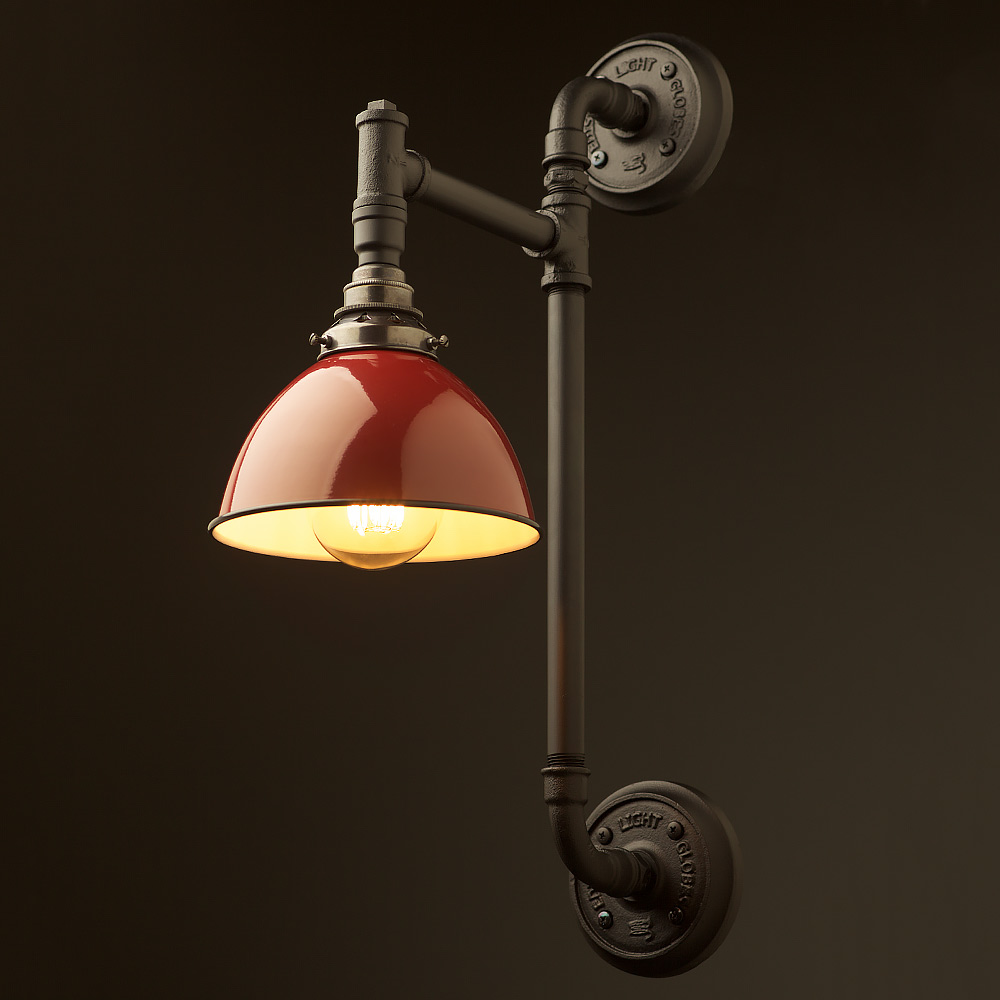 Twin wall mount pipe light shade edison light globes pty ltd twin wall mount pipe light shade aloadofball Gallery