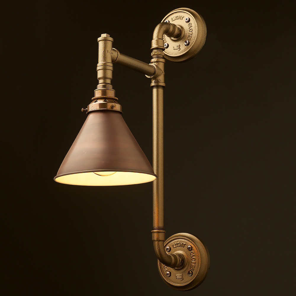 Twin Wall Mount Pipe Light Shade Edison Light Globes Pty Ltd