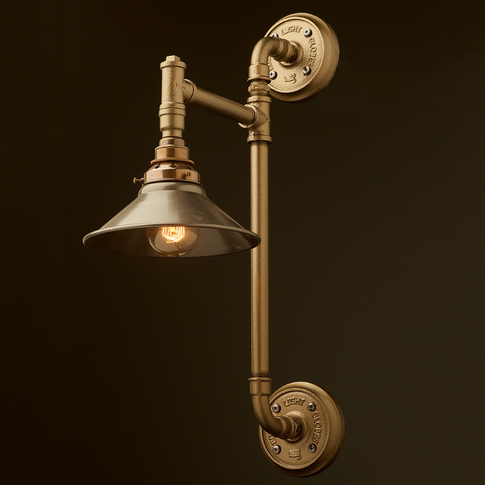 Twin wall mount pipe light shade edison light globes pty ltd twin wall mount pipe light shade mozeypictures Gallery