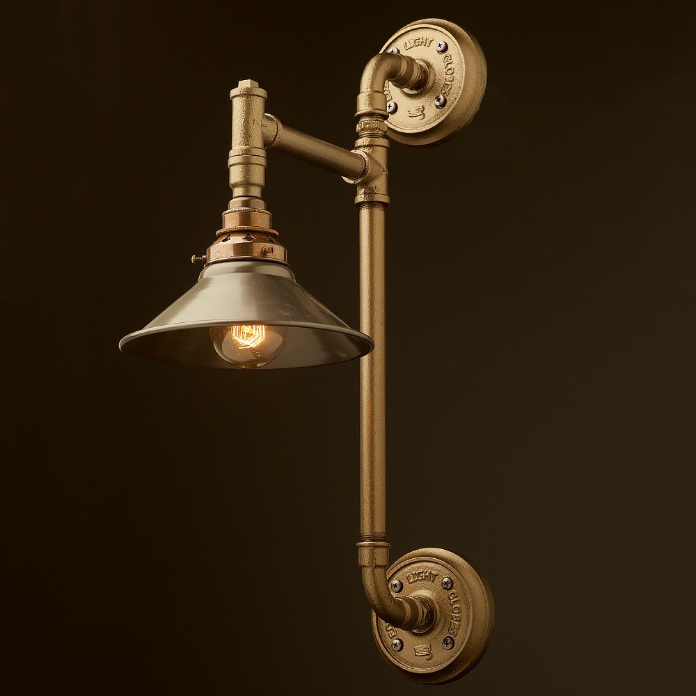 Twin Wall Mount Pipe Light Shade Edison Light Globes Pty Ltd