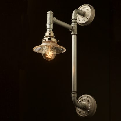 Twin Wall Mount Pipe Light Shade