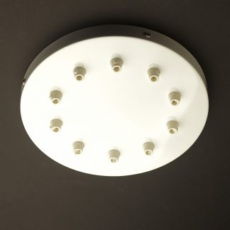 260mm White Multiple Drop Cord Grip Ceiling Plate