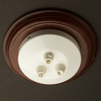 Gloss White multiple drop cord grip ceiling plate